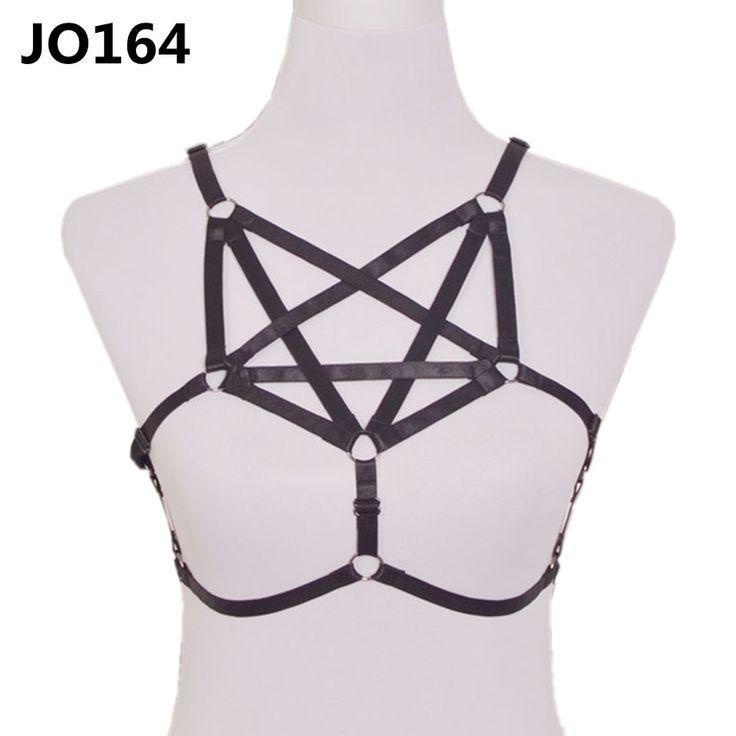 Hot Sale Women Erotic Pastel Cage Body Harness Sexy Halter Bra Elastic Body Bondage Belt Corset Burlesque Goth Dress Wholesale