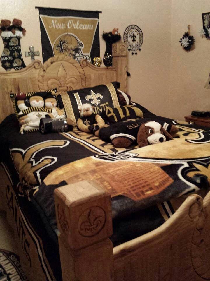 Beautiful New Orleans Saints Bedroom Suite