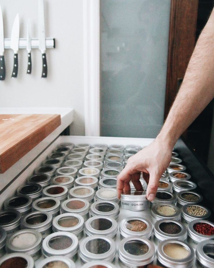 The 25 Best Spice Drawer Ideas On Pinterest Spice Rack