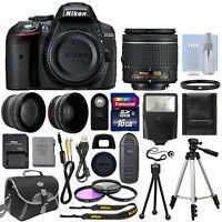 Nikon D5300 Digital SLR Camera + 3 Lens Kit 18-55mm Lens + 16GB Bundle