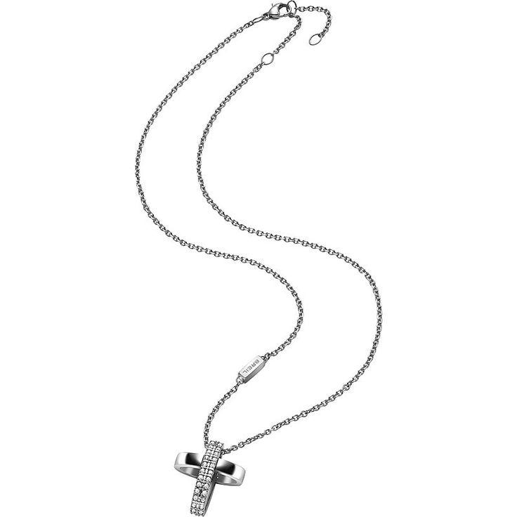 Pendente grande con cristalli swarovski bianchi: Breil ridisegna la tradizionale croce con linee sinuose e femminili. Acquistala con sconto del 30% sul listino!