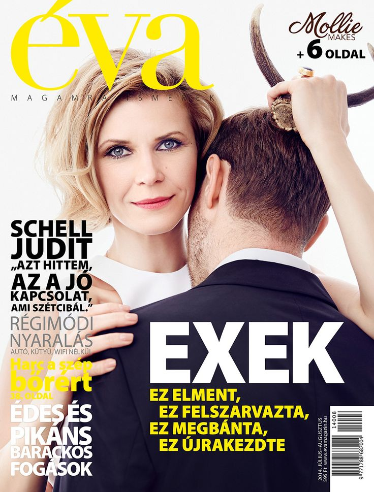 július–augusztusi címlap Schell Judittal. // Éva's cover for its July–August issue with actress Judit Schell.