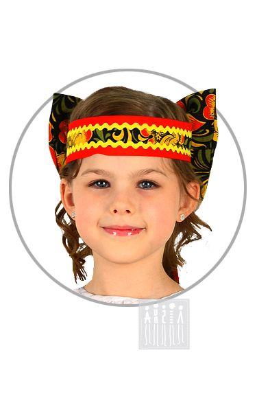 Карнавальный костюм Хохлома головной убор - бант Хохлома головной убор - бант