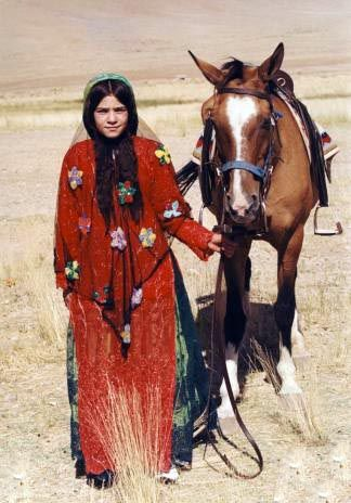 Southern Iran | Qashqai nomad.  Fars region | Photographer unknown