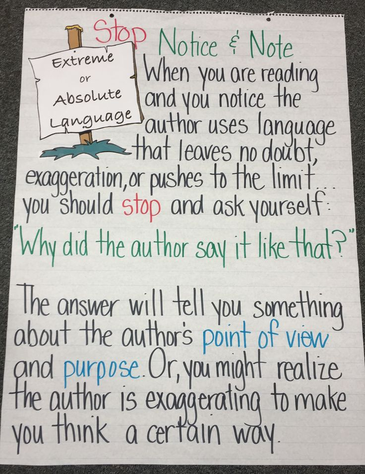 Extreme or Absolute Language: Notice & Note for Nonfiction