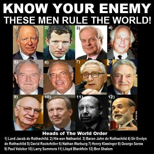 "...If you can name the members of the Kardashian family, but can't even name one of these guys, YOU ARE PART OF THE PROBLEM! Check out, ""Players: The Who's Who in the New World Order of the Illuminati Explained"","