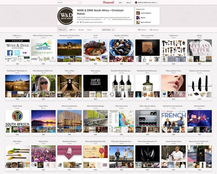 ENJOY WINE & DINE South Africa on Pinterest - 1300 Pics on 33 Boards http://pinterest.com/wineanddinesa/ #Wine #SouthAfrica