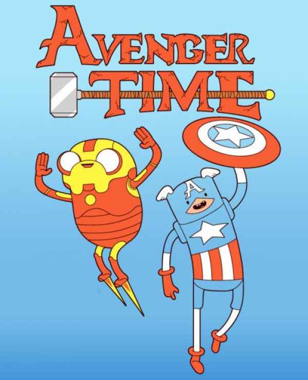 """I am so in love with this.  """"Avenger Time, come on grab your friends, we'll go to very distant lands, with Thor the god and Steve the human, the fun will never end, it's Avenger Time!"""""""