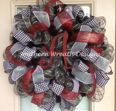 mesh wreaths | Alabama Deco Mesh Wreath by SouthernWreathDesign on Etsy
