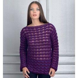 Breipakket trui met kanten look van Phildar van Phil Harmony en strass light