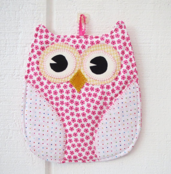 Pink Owl Hot Pad