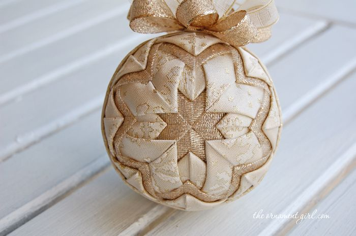 Quilted Ornament Patterns | Quilted Ball | Pine Cone | Quilted Tree | No sew fabric ball tutorials