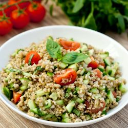 Freekeh Salad Recipe and a Grain Blog Hop