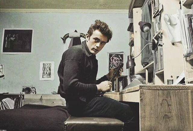 James Dean in his NYC apartment 1954 I believe so