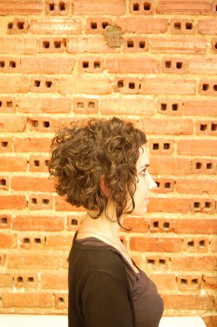 This makes me want to go short again, SO badly.     curls with bangs by wip-hairport, via Flickr
