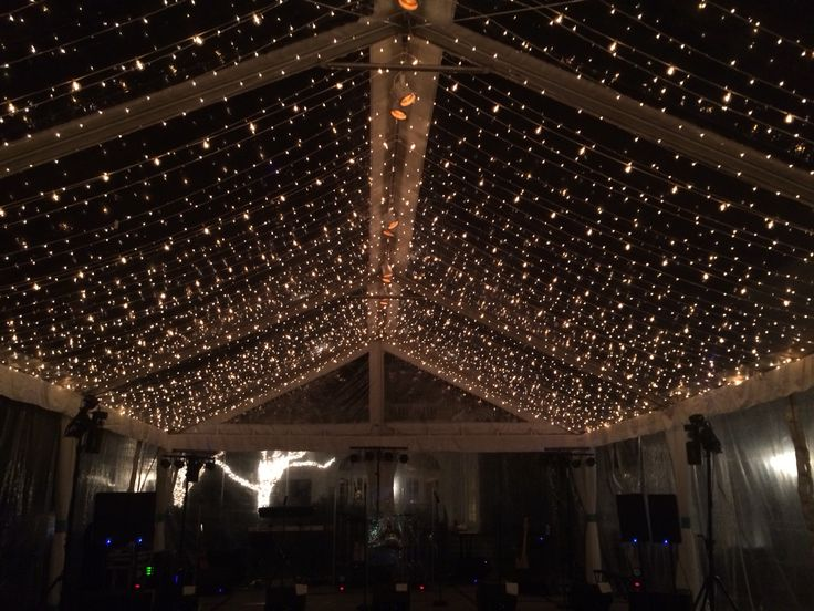 Twinkle Light Ceiling In A Clear Top Tent Pinterest
