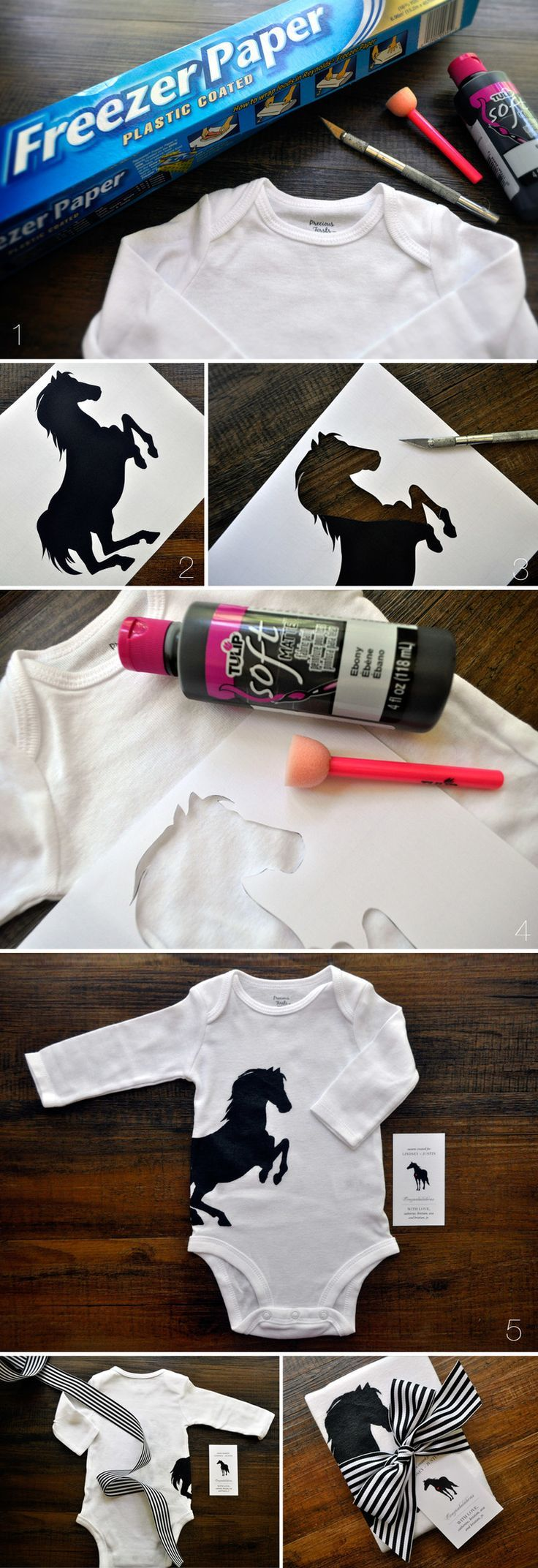 How to make a hand painted onesie...cute gift and adaptable to your taste!
