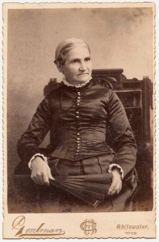1890's Woman Big Fan Whitewater Wisconsin Mature Dowager Fashion Eastlake Bodice | eBay