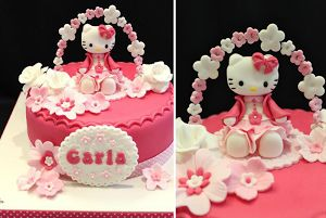 Gâteau hello kitty fleur                                                                                                                                                     Plus