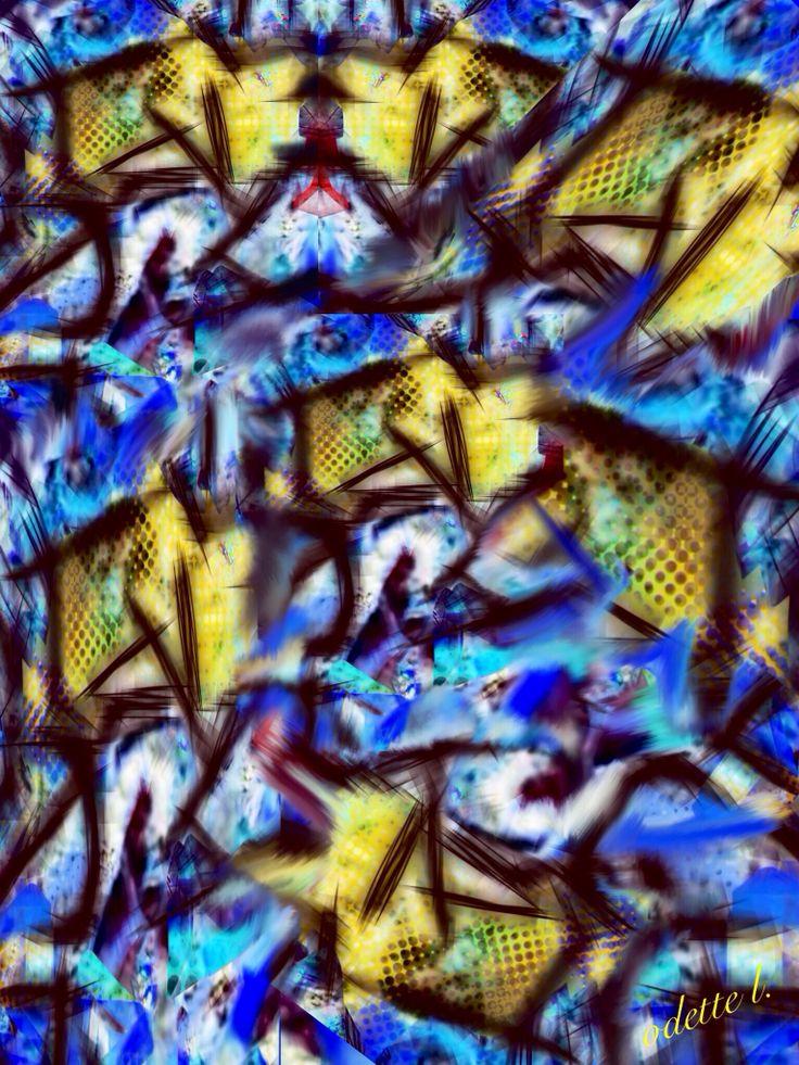 Collage, estampillage Dentelles, lanternes Noël pour la joie Noël pour la tristesse Parcelles de guerres Parcelles de lumière  par Odette L.