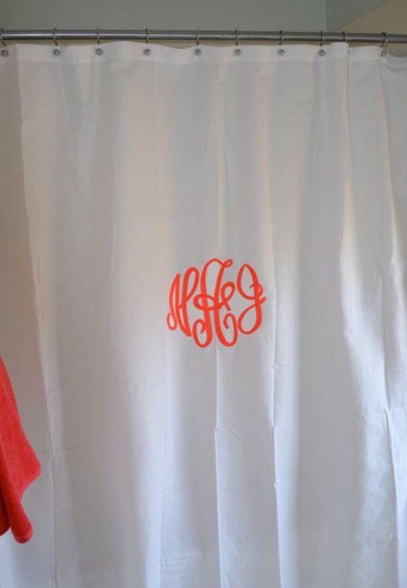 Monogram Shower Curtain Home Windows Doors Love Family Bedroom