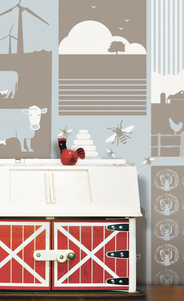 Farm #Wallpaper #boerderij #behang | Minimoderns