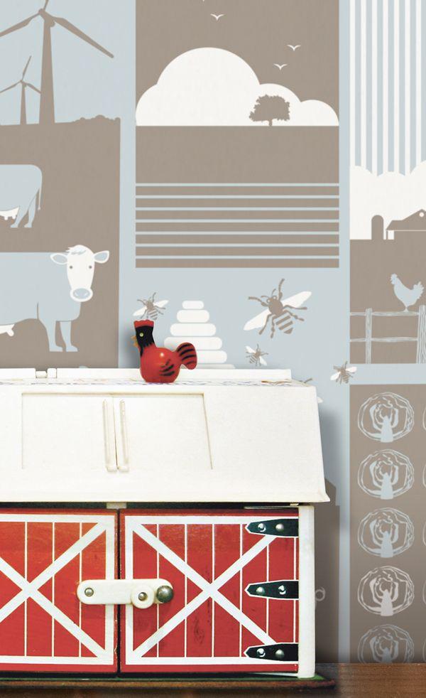 Farm #Wallpaper #boerderij #behang | Minimoderns