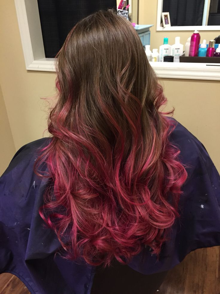 My Pink Highlights Brown Hair Pravana Magenta Its A