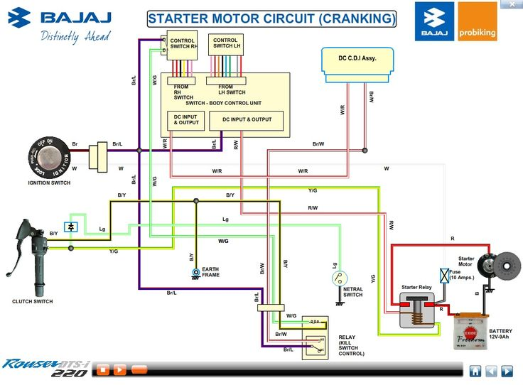 Click For A Larger View Motorcycle Wiring Electrical Diagram Electrical Circuit Diagram