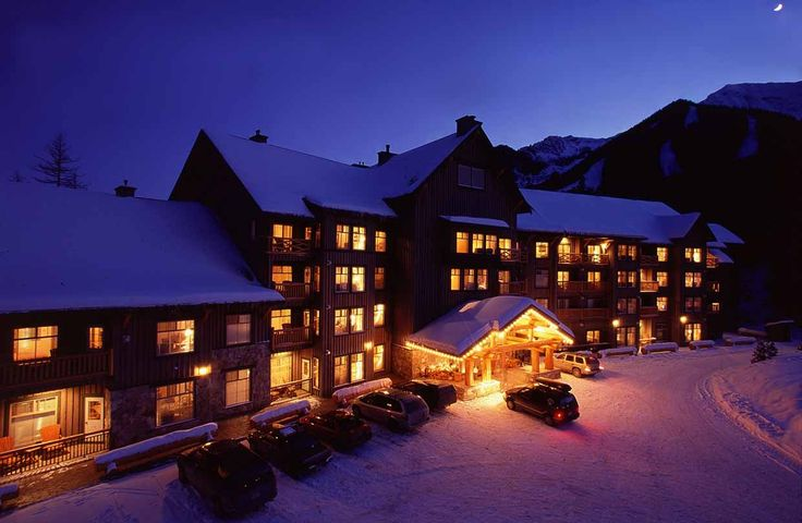 A ski-in/ski-down location right at the base of the mountain, with a heated outdoor swimming pool, two whirlpools, fitness room, meeting room and alpine room. These condominiums offer one and two bedroom suites featuring early Canadian architecture with stone, logs and wood, with decks or balconies, full kitchen facilities, gas fireplace and cable TV. Other common areas include a nurturing center for massages, ski lockers, heated underground security parking and elevators.