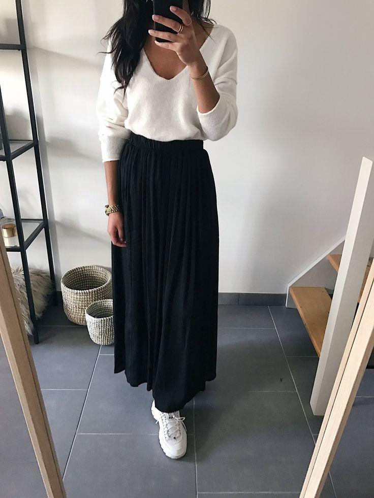 Longue jupe plissée   – Projets couture