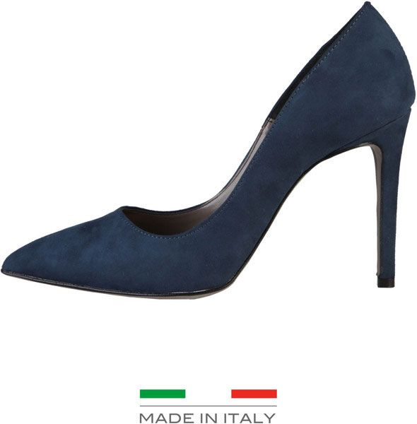 pantofi cu toc bleumarin