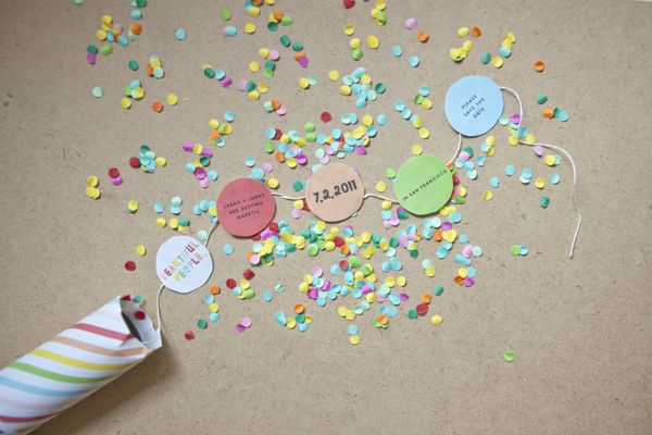 Confetti Invitations + Template