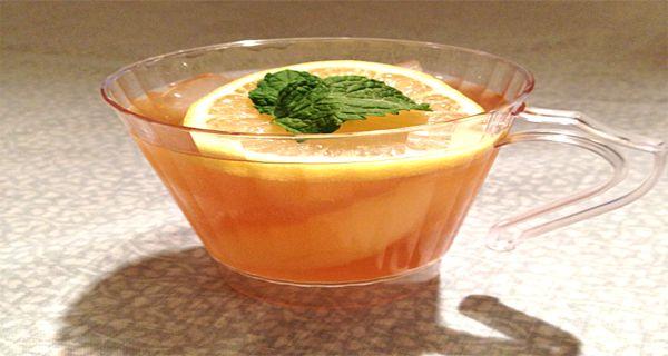 Thé glacé à l'orange pour faire fondre la graisse
