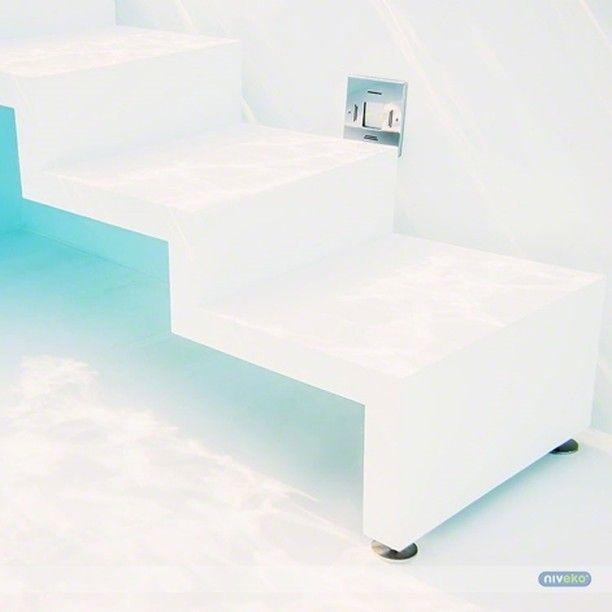 NIVEKO POOLS design    NIVEKO MILANO stairs » niveko-pools.com #lifestyle #design #health #summer #relaxation #architecture #pooldesign #gardendesign #pool #swimmingpool #pools #swimmingpools #niveko #nivekopools