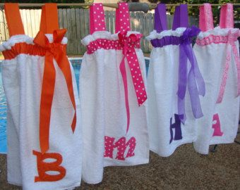 Swimsuit Cover-Up / Spa Wrap Personalized Choose your by bumbleblu