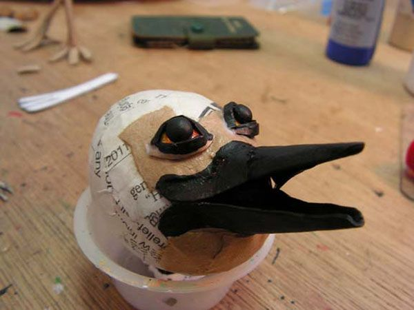 Papier Mache - Tutorials - A Cartonnage Bird