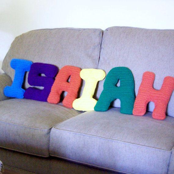 Alphabet Letter Pillow Crocheted Custom Order Ships for ...