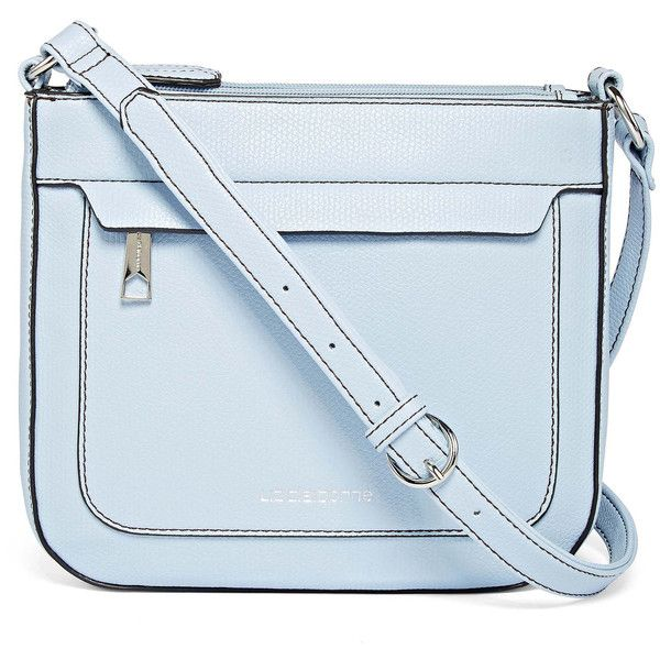 Liz Claiborne Melanie Crossbody Bag (€27) ❤ liked on Polyvore featuring bags, handbags, shoulder bags, zipper handbag, blue crossbody, liz claiborne, blue crossbody purse and blue cross body purse