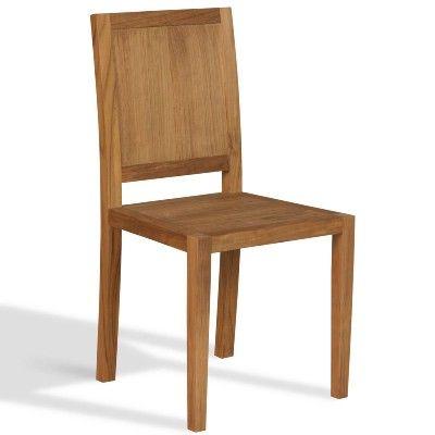 Teak Wood Bistro Chair Standard | 48 U0026 48 X 92H