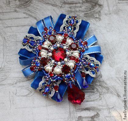 "Комплект украшений ""Рейвенкло"" - брошь-орден и серьги. Handmade."