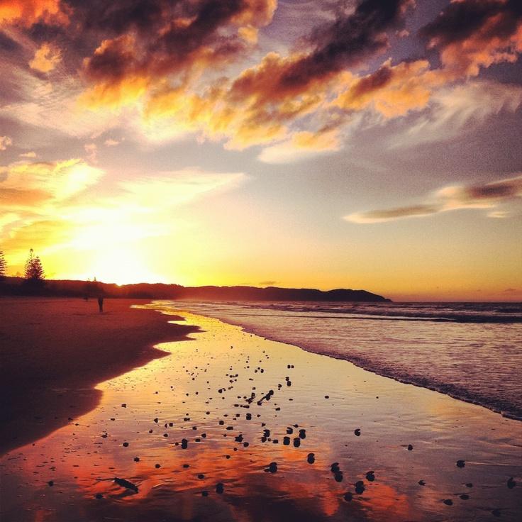 sunset at Ohope Beach, near Whakatane, Bay of Plenty // North Island, NZ