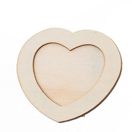 Cadre Photo En Bois Bricolage Frame Artisanat Ornement Table Amour Coeur