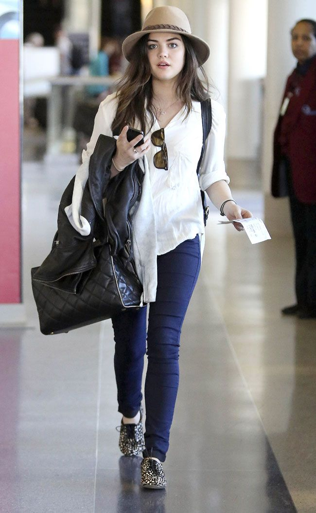 my favourite pretty little liar #LucyHale puts together the best outfits. love this whole look. #streetstyle