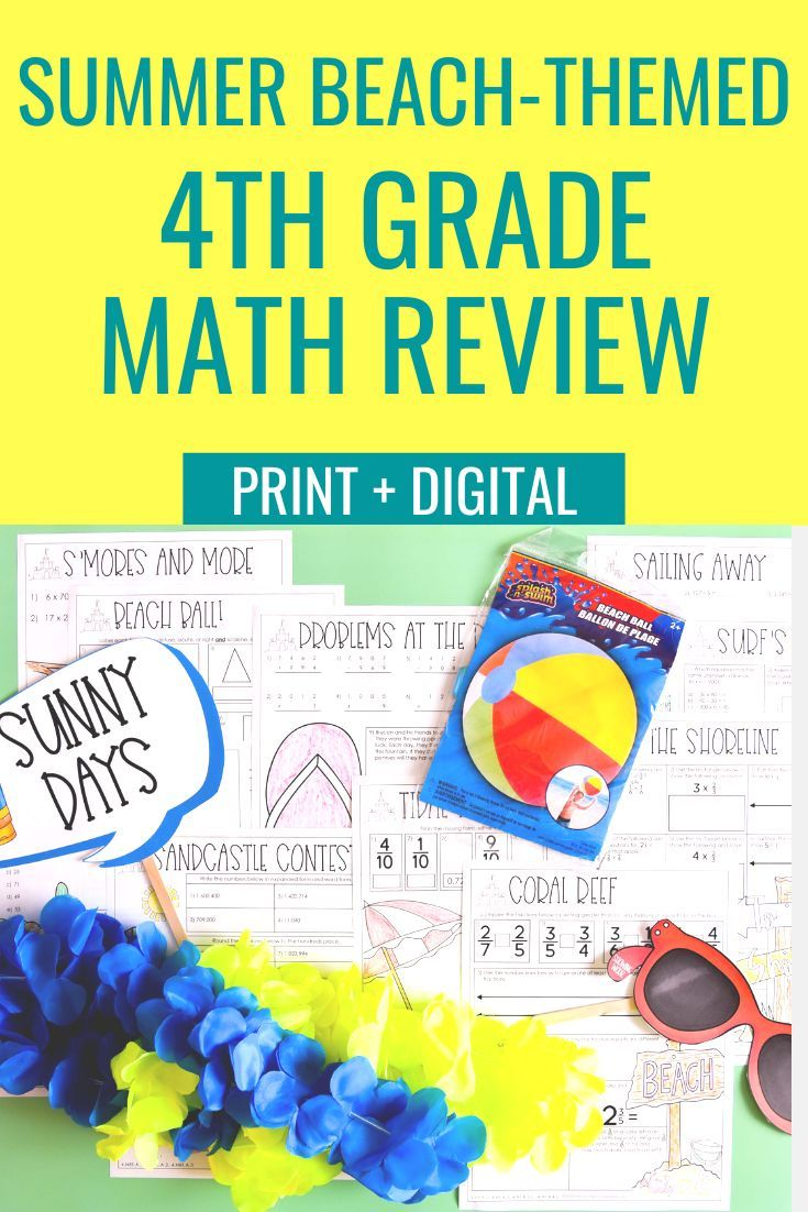 4th Grade Math Beach-Themed Transformation   Math Review ...