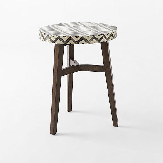 Delightful Chevron Bone Side Table | West Elm $199