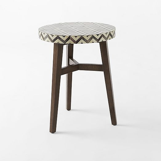 Chevron Bone Side Table West Elm Home Goods For The