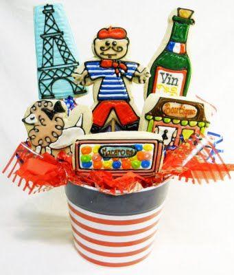 Bastille Day Party Ideas   Bastille Day Decorations   Bastille Day Cookies   Bastille Day Gift Basket