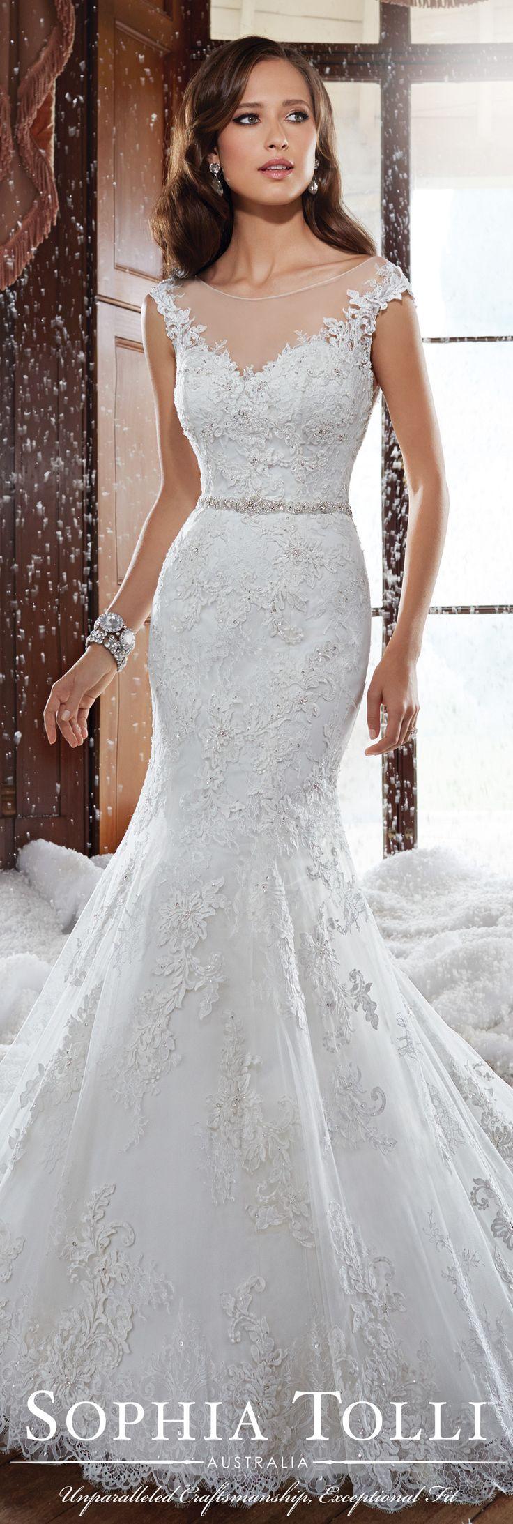 The Sophia Tolli Fall 2015 Wedding Dress Collection - Style No. Y21512 sophiatolli.com #laceweddingdress