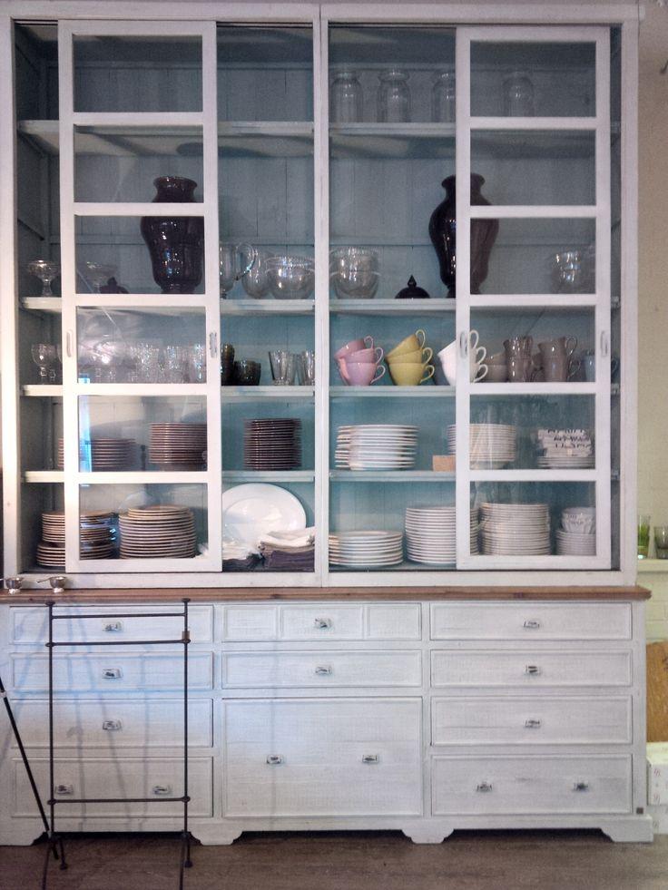 Large glazed cabinet